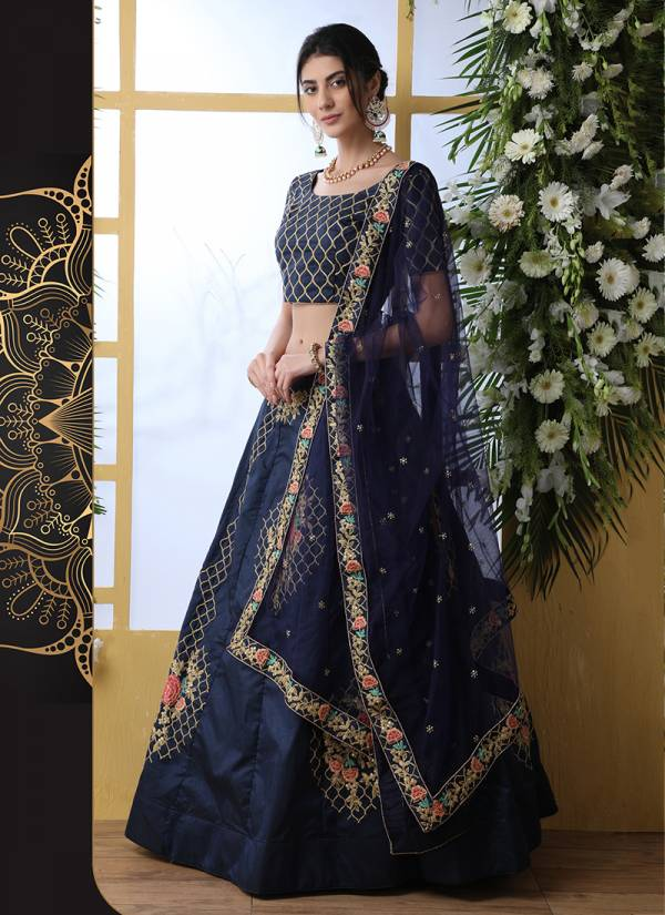 Classy Look Silk Thread With Sequence Embroidery Work Lehenga Choli Collection 1271-1247