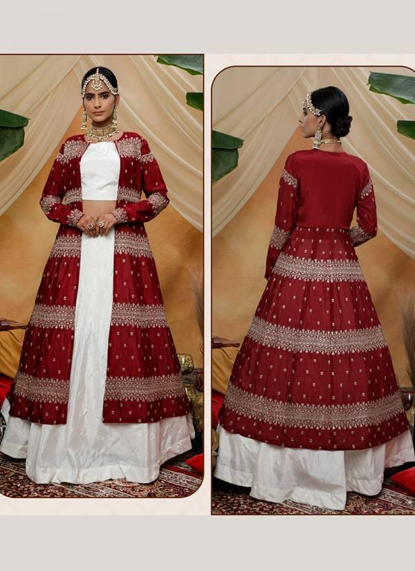 Khushbu-Fashion-Bridesmaid-Vol-7-Sereis-1321-1325-Chinnon-Cotton-Thread-And-Sequins-Work-Party-Wear-Indo-Western-Lehenga-Cholis-Collection