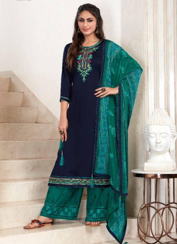 KVS Butterfly Vol 2 Series 1681-1684 Jam Silk Cotton With Embroidery Work Festival Wear Suits Collection