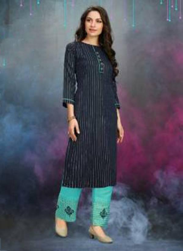 Channal 9 Timinic Series 3405 -3408 Pure Chanderi Casual Wear Stylish Kurti And Bottom Collection