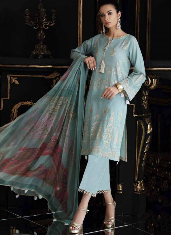 Charizma Swissmiss Vol 2 Pure Cotton Front Shifly And Heavy Embroidery Work Top Semi Lawn Heavy Bottom With Bemberg Chiffon With Printed Dupatta Pakistani Suits Collection 2001-2006