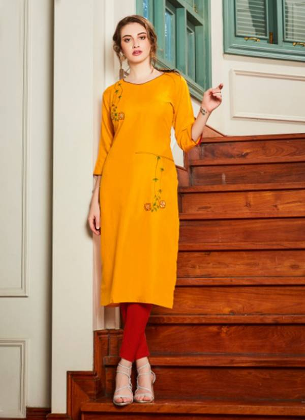 Chhaya Vol 1 Cotton With Embroidery Work Classy Look Kurti Collection 1001-1008