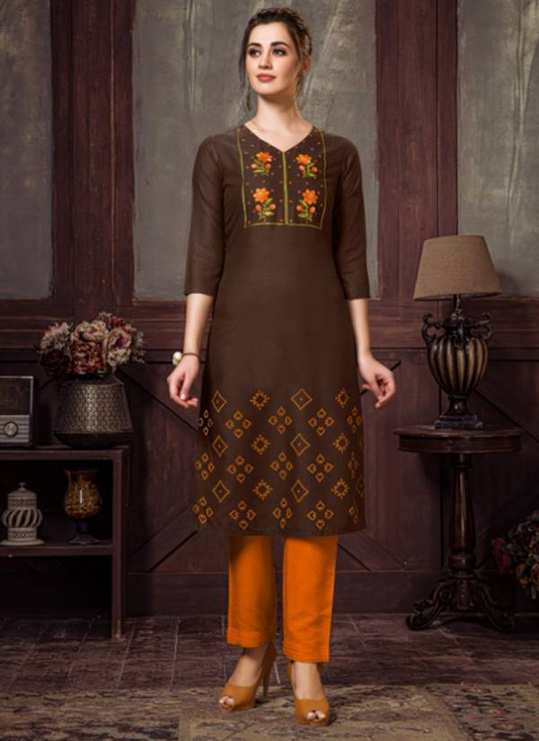Nitisha NX Chingari Vol 2 Series 2001-2006 Heavy Soft Cotton Slub With Embroidery Work Stylish Look Kurti Collection