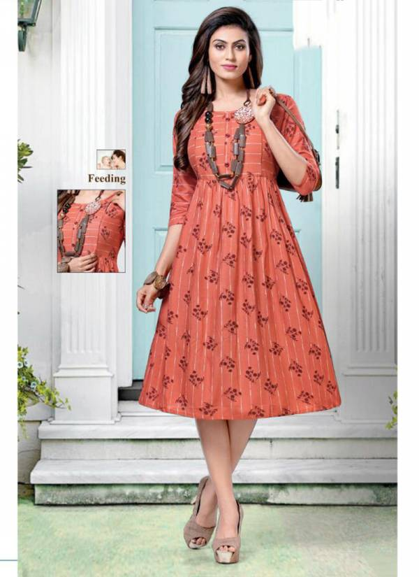 Choclate Vol 2 Rayon Printed With Stiching Pattern Fancy Regular Wear Kurti Collection 21001-21008