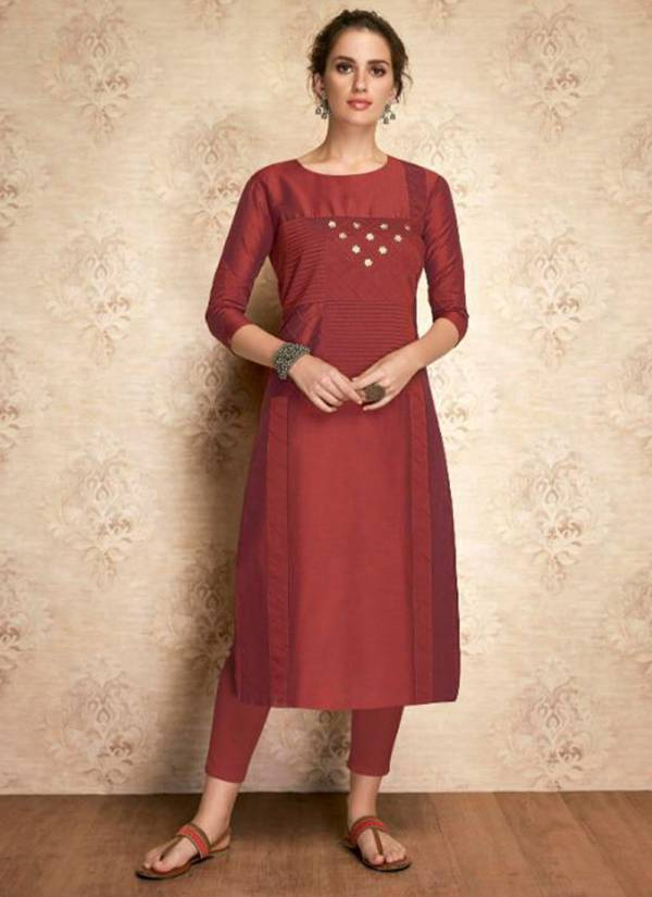 Arihant NX Claire Series 01-11 Pure Viscose Two Tone Silk Fancy Kurti Collection