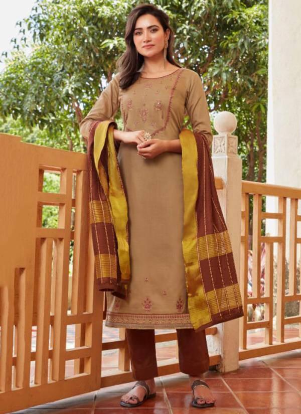Kajree Fashion Crysta Vol 2 Series 12127-12134 Jam Silk With Cotton Inner And Khatli Work Readymade Salwar Suits Collection