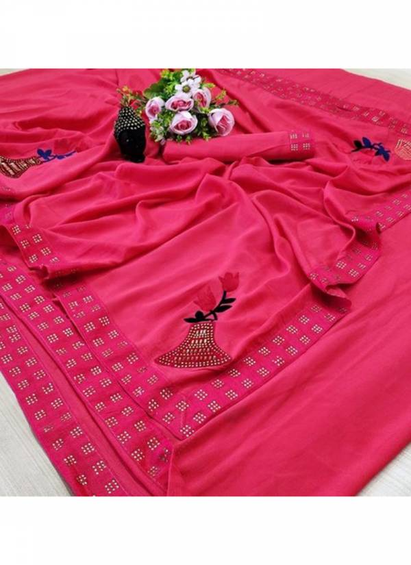 Ruhi Fashion Dayman 2 Series D1-D5 Two Tone Vichitra Silk With Exclusive Diamond Work Sarees Collection