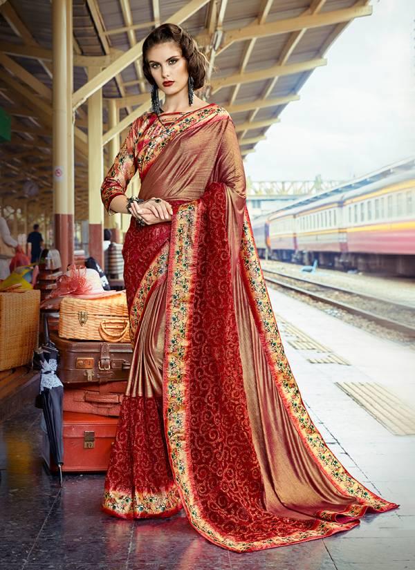 Kalista Fashion Delight 2 Series 24517-24522 Exclusive Designer Lycra Party Wear Sarees Collection