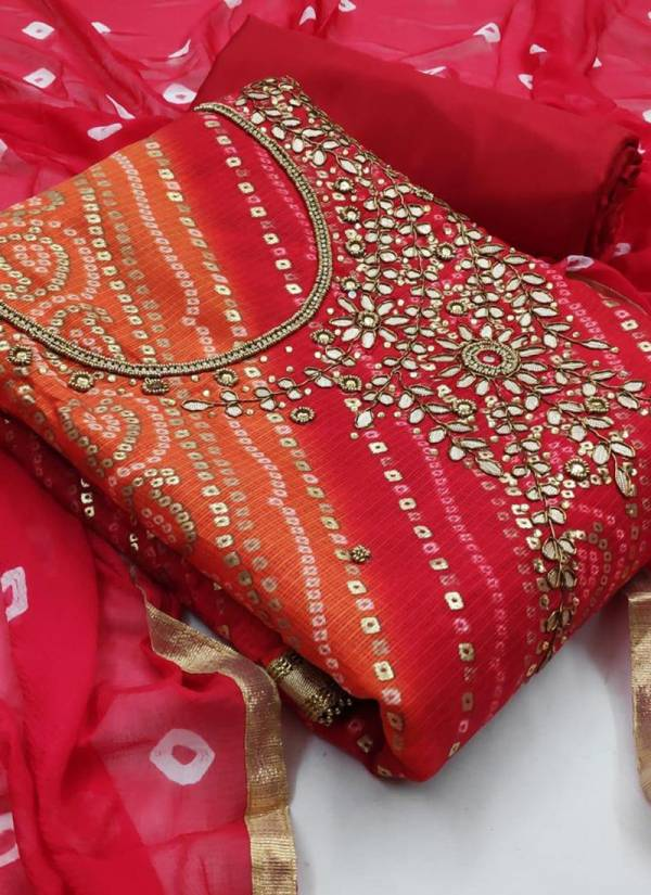 Designer Suits Series 101-104 Kota Checks Bandhani Prints Exclusive Dress Material Suits Collection For Women
