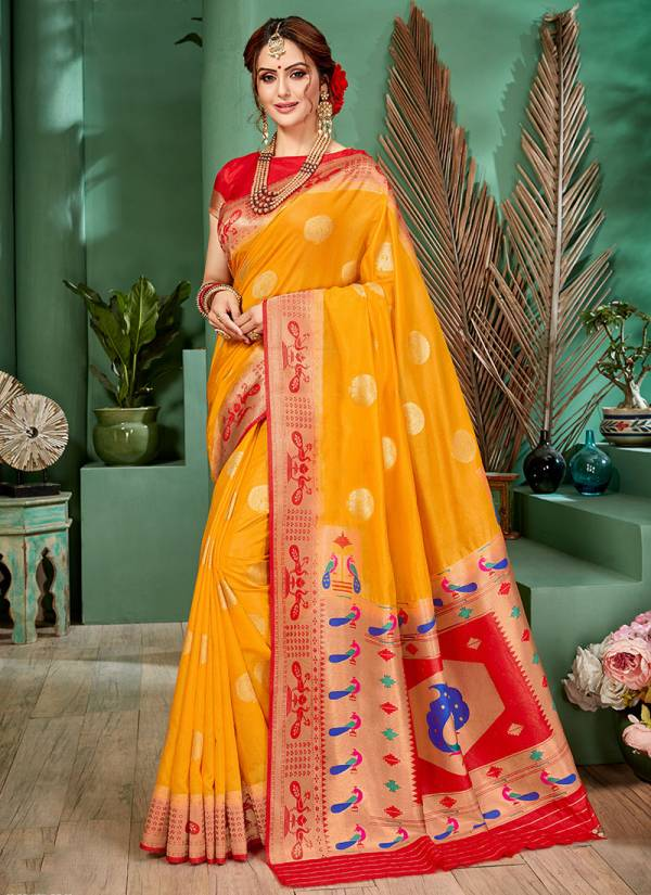 Takshaya Devika Series A-E Best Quality Weving Silk Traditional Wear Sarees Collection