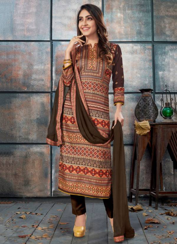 Bipson Elegance Series 999-1002 Tusser Silk Digital Print Daily Wear Suits Collection