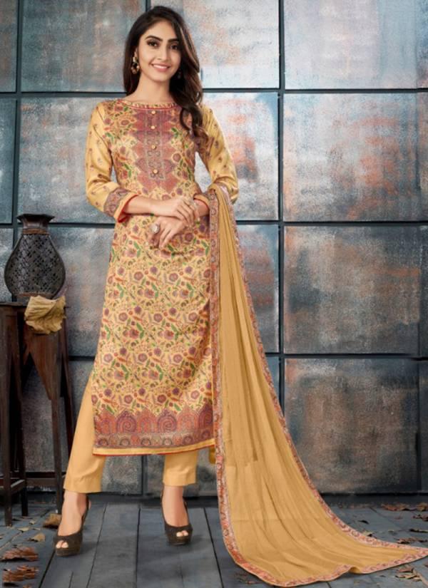 Bipson Elegance Series 1003-1006 Latest Fancy Tusser Silk digital Print Regular Wear Suits Collection