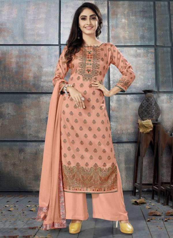 Bipson Elegance Series 1007-1010 New Design Tusser Silk Digital Print Salwar suits Collection