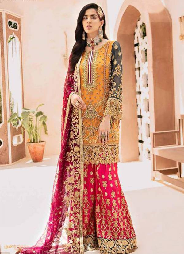 Rinaz Fashion Emaan Adeel Vol 2 Series 3801-3806 Faux Georgette With Heavy Embroidery & Diamond Work Wedding Wear Pakistani Suits Collection