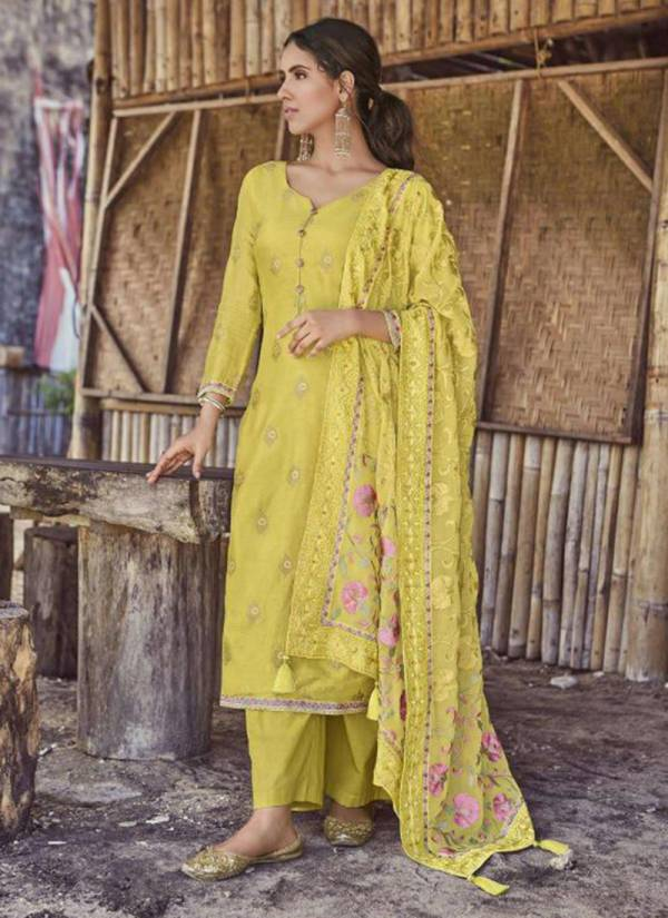 Ibiza Enara Series 575-580 Pure Russian Silk Jacquard Embroidery Work Suits Collection