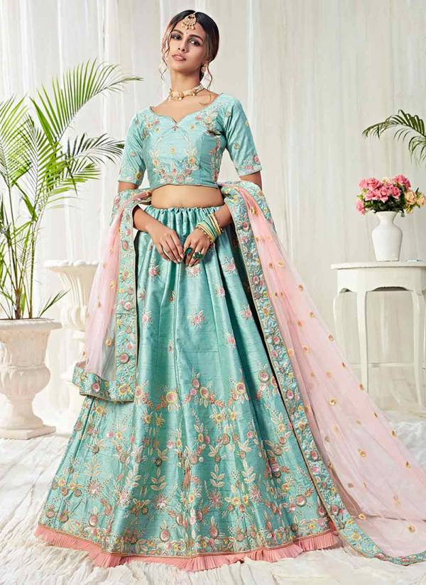 Alizeh Engagement Series 1009-1011 Designer Net & Silk Cording Thread & Sequins Embroidery Work Function Wear Lehenga Choli Collection