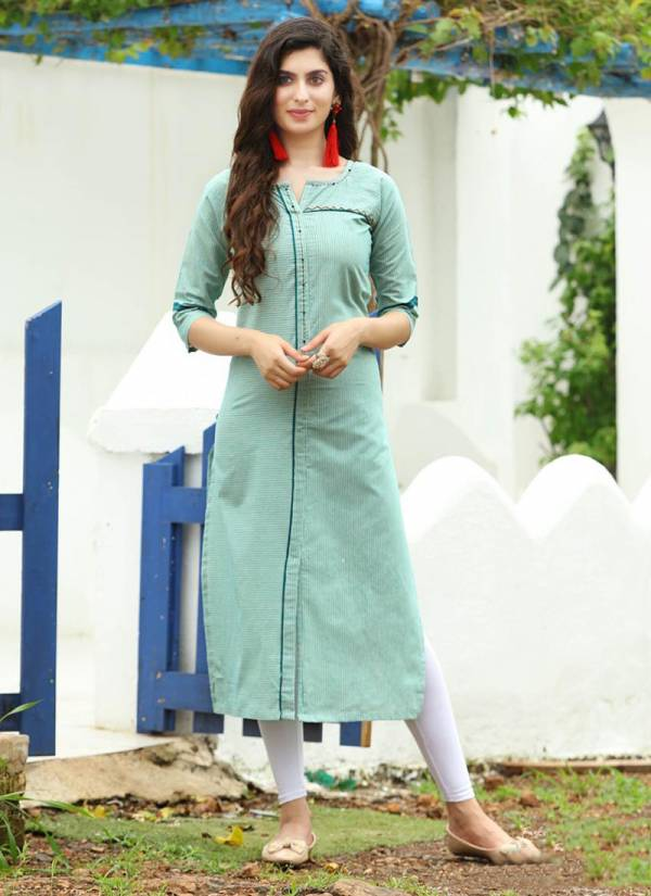 PK Fashion Official Vol 1 Series 1001-1009 Rayon & Cotton Jacquard Weaving Daily Wear Kurti Collection