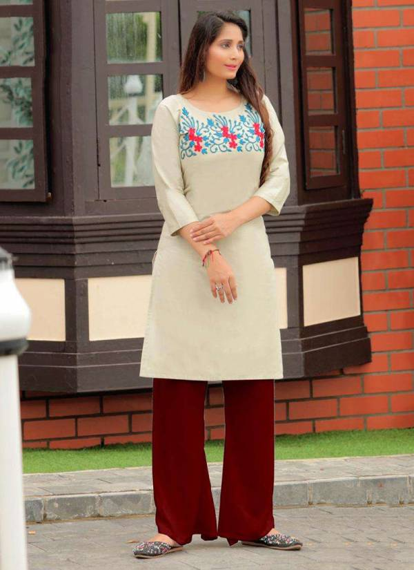 PK Fashion Rainbow Vol 1 Series 1001-1021 Heavy Cotton Fancy Embroidery Work Kurti Collection