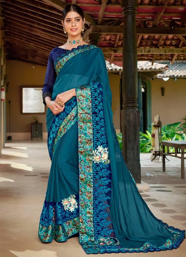 Kalista Fashion Fitoor 2 Series 62007-62014 Designer Rangoli Silk Festival Wear Sarees Collection