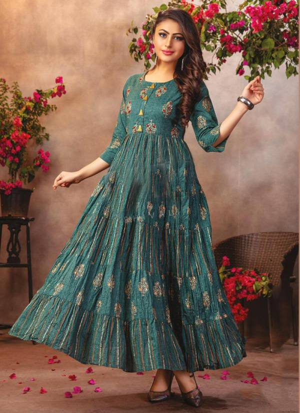 S4U Flairy Tales Vol 3 Series 301-308 Cotton Long stylish Look Kurti Collection