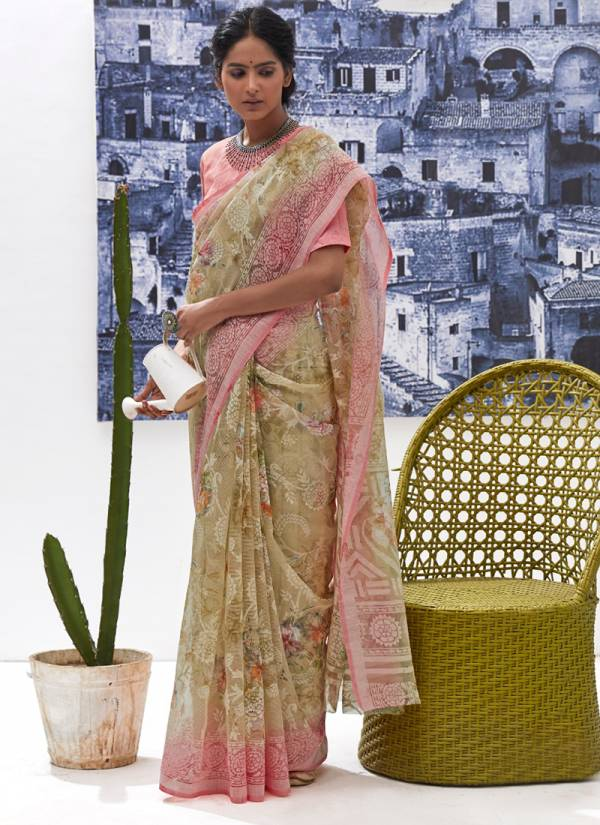 Shangrila Floral Series 9781-9792 Brasso printed Daily Wear Sarees Collection