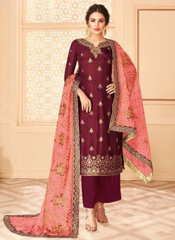 Aashirwad Florence Series 7159-7165 Pure Dolla Jacquard Stylish Work Traditional Wear Suits Collection