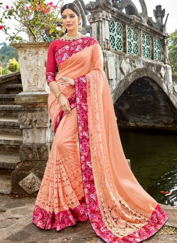 Kalista-Florence-Series-17001-17006-Organza-Fancy-&-Digital-Print-With-Embroidery-Work-And-Heavy-Border-Sarees-Collection