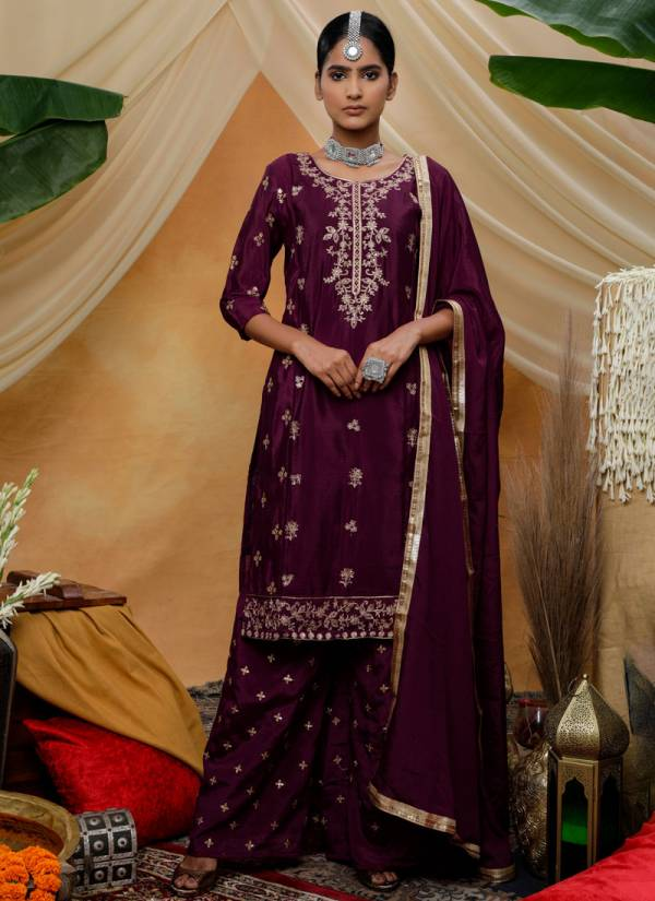 Khushbu Fashion Flory Vol 8 Series 4321-4324 Chinon With Zari Sequence Embroidery Work Party Wear Suits Collection
