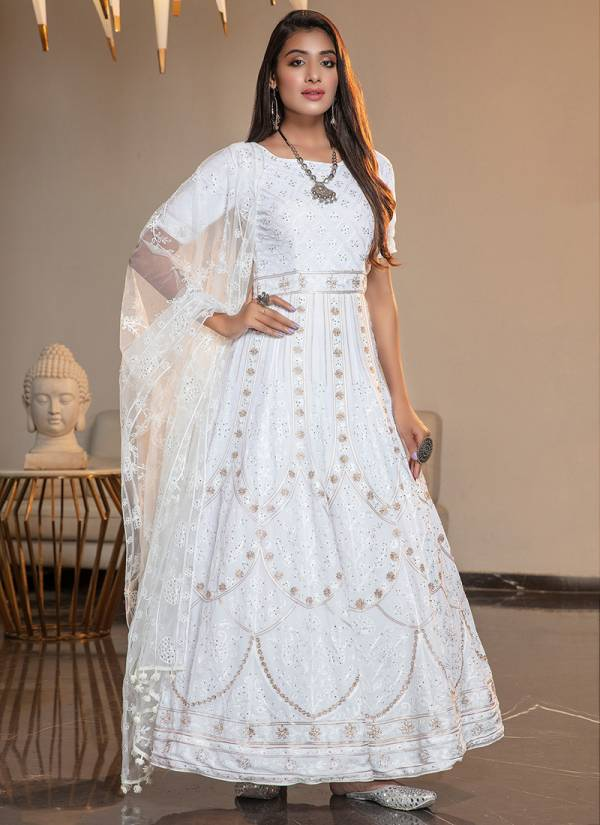 Khushbu Fashion Flory Vol 9 Series 4401-4404 Thread Embroidery With Stone Pasting Work Festival Wear Anarkali Suits Collection