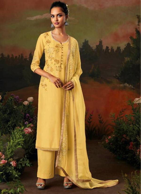 Ganga-Garden-Of-Birds-Series-8307-8312-Pure-Kora-Silk-Solid-With-Heavy-Embroidery,Hand-&-Swarovaski-Work-Festival-Wear-Suits-Collection