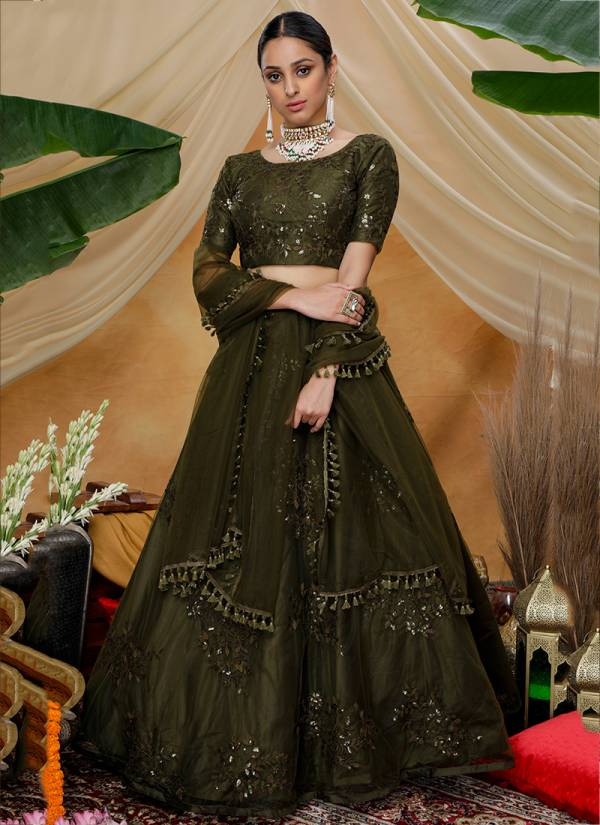 Khushbu Fashion Girly Vol 4 Series 1341-1344 Net Thread With Sequence Embroidery Work Party Wear Lehenga Choli Collection
