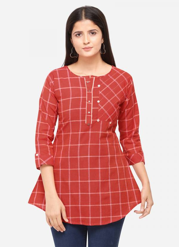 KVS Good Girl Series 1001-1007 South Cotton With Embroidery Work Fancy Top Collection