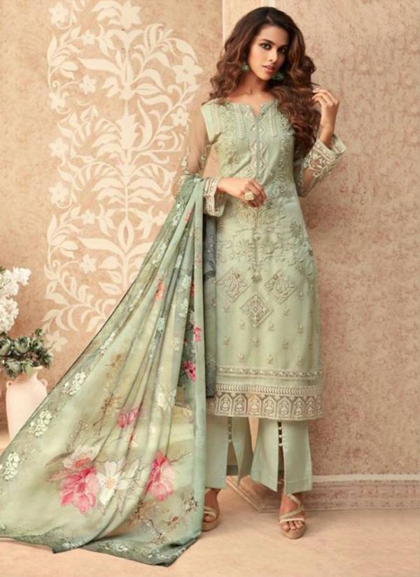Zoya Grace Series 36001-36007 Net Embroidery Work Stylish Look Festival Wear Suits Collection