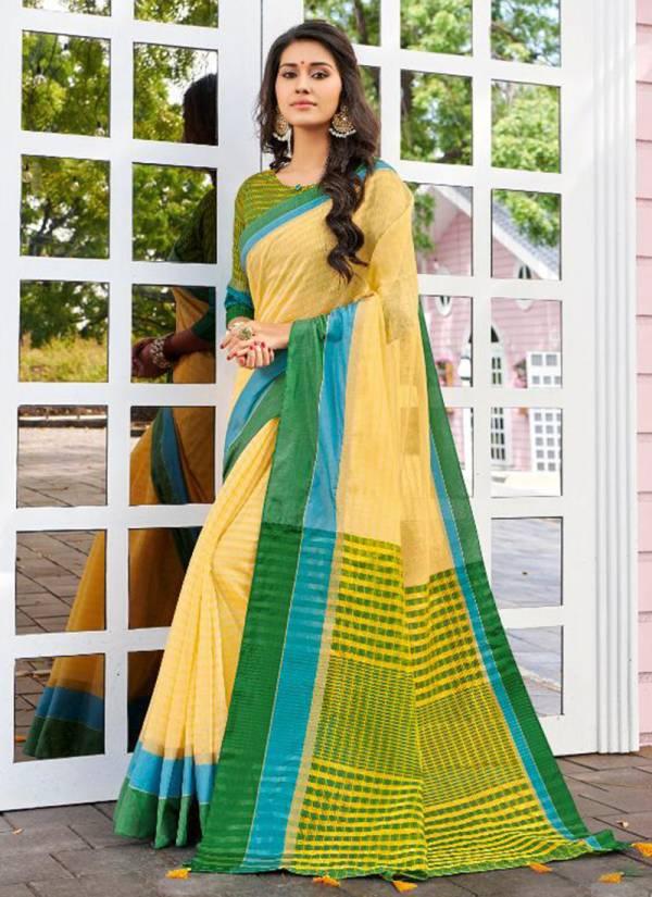 Varsiddhi Gracie Series 18401-18412 Banarasi Cotton With Weaving Pallu & Blouse Fancy Sarees Collection