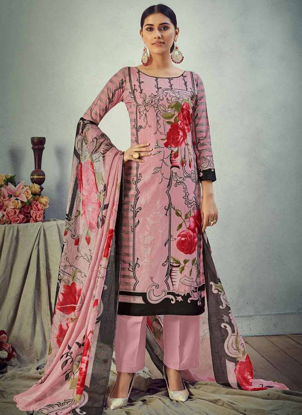 Alok Suit Gul Badan Series 653-001 - 653-010 Pure Cambric Cotton Digital Style Pakistani Print Suits Collection