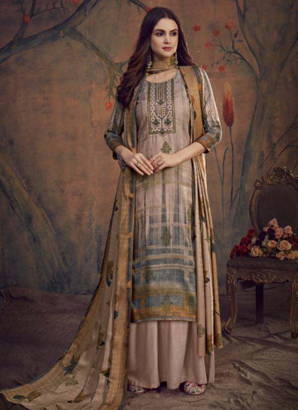 Winter Series 6413-6420 Pure Pashmina Printed With Self Embroidery Work Salwar Suits Collection
