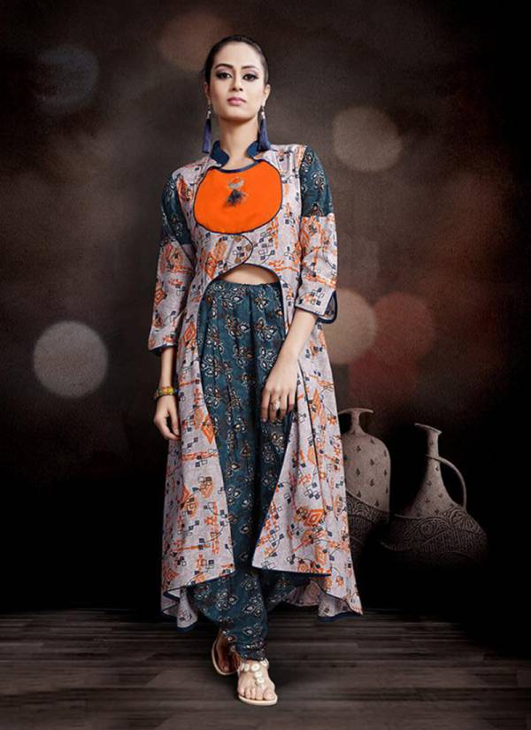 Heer Rayon Print Designer Western Wear Kurti With Bottom Collection 1080-1085