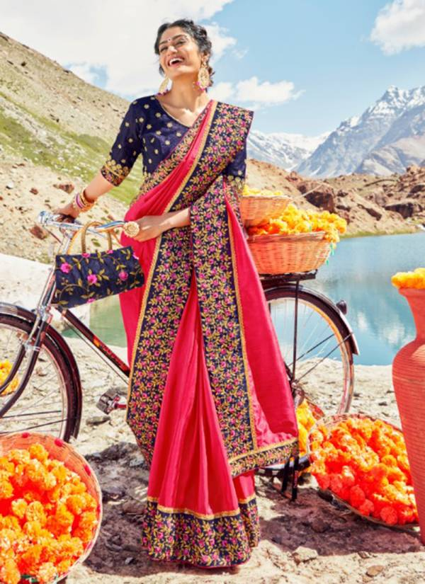 Kalista Fashion Heritage Series 38771-38778 Fancy Vichitra With Heavy Lace Work Festival Wear Sarees Collection