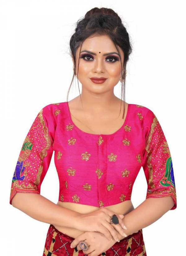 Ruhi Fashion Hot Looking Series 101-108 Heavy Fantam Silk Designer Blouse Collection