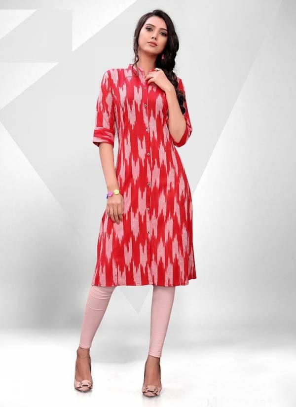 Blue Hills Ikkat World Vol 2 Series 101-108 Latest Classic Look Regular Wear Cotton Kurti Collection