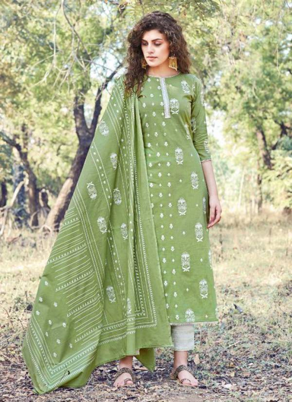 Inara Pure Lawn Foil Block Print With Fancy Hand Work Suits Collection 180-001-180-010