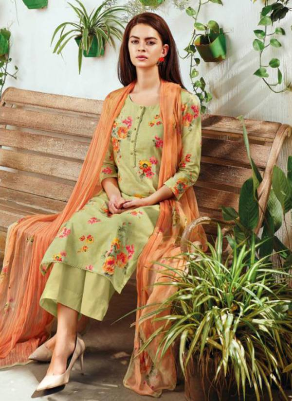 Iya Pure Cotton Lawn Printed With Hand Work Embroidery Work Top,Cotton Solid Bottom With Bemberg Chiffon Printed Dupatta Exclusive Suits Collection 289-294