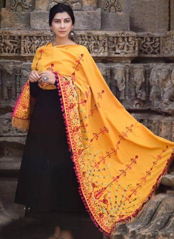Mesmora Jassi Series 1600-1609 Khadi Embroidery Work Winter Season Special Shawls Collection