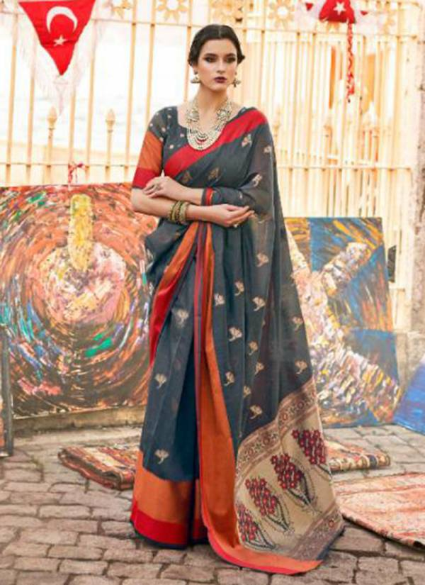 Kalasiya Silk Handloom Weaving Classy Look Sarees Collection 112001-112006