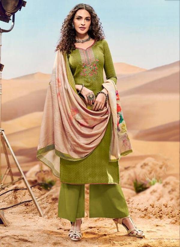 Winter Series 1045-1052 Pure Pashmina Dobby Print With Self Embroidery Work Exculsive Festival Wear Suits Collection