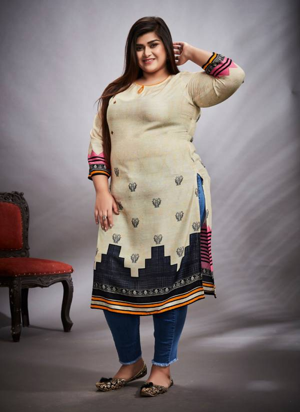 Karika Rayon Digital Print Stylish Look Ragular Wear Kurti Collection 01-10