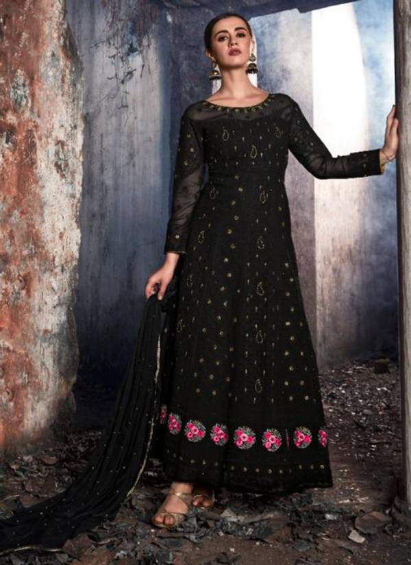 Karma Series 20070-20074 Latest Georgette Embroidery Work Anarkali Stylish Look Suits Collection