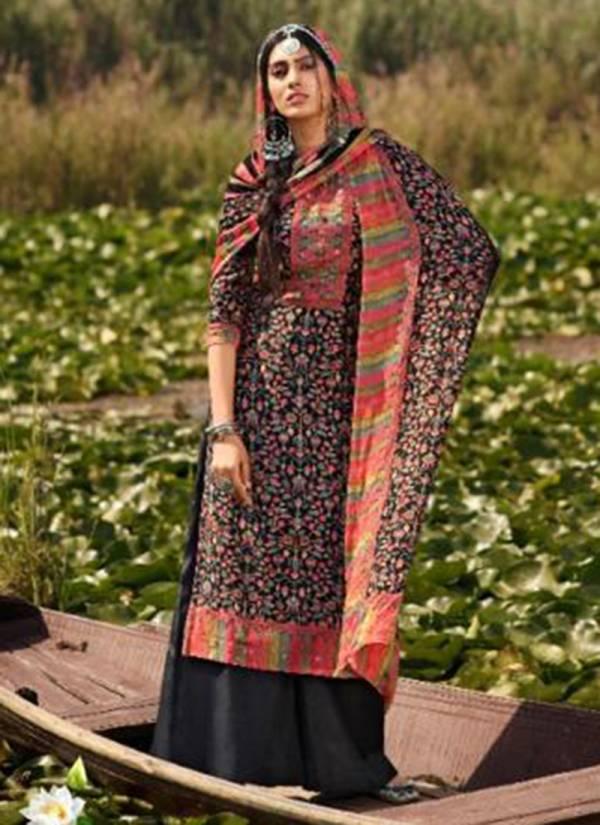 Glossy Simar Kashish Series 558-565 Pure Viscose Muslin Silk With Handwork With Chinon Digital Prints Dupatta Designer Trendy Look Salwar Suit Collection