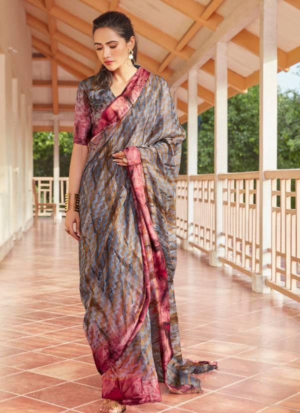 Shangrila Kashish Vol 2 Series 9761-9772 Unique Pure Viscose Brasso Stylish Look Regular Wear Sarees Collection
