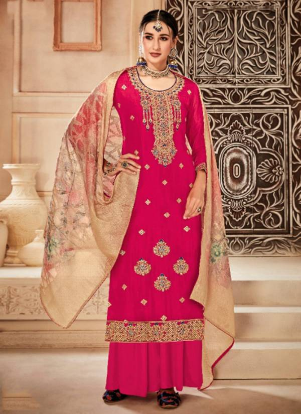 Alok Suit Kesari Series 496-001 - 496-008 Pure Viscose Upada With Fancy Embroidery Work Wedding Suits Collection
